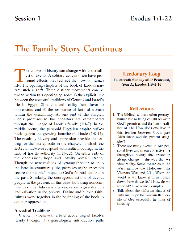 Lesson 1 The Family Story Continues