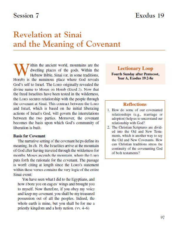 Lesson 7 – Revelation at Sinai
