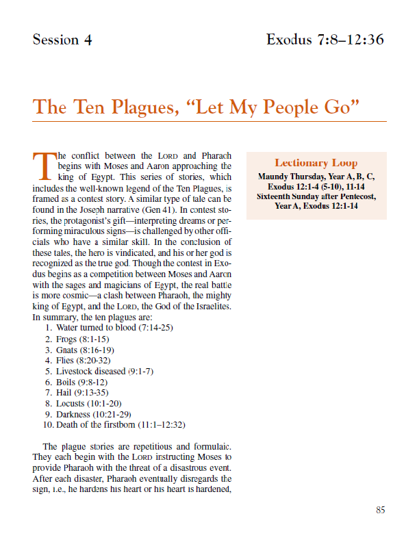 Lesson4 – The Ten Plagues