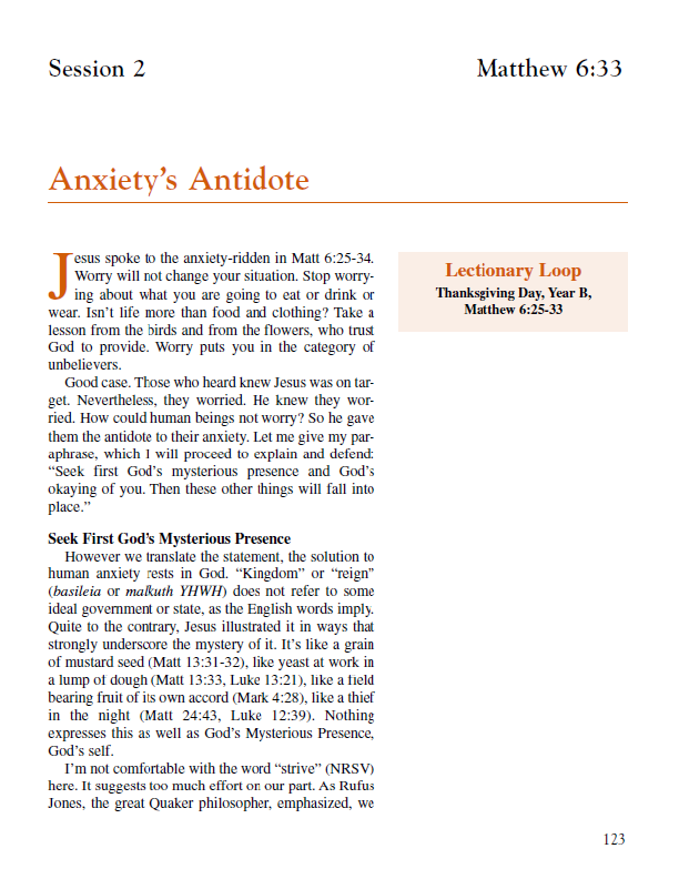 "Lesson 2 ""Anxiety's Antidote"""
