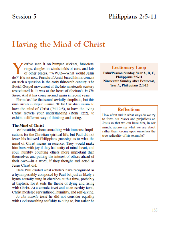 "Lesson 5 ""Having the Mind of Christ"""