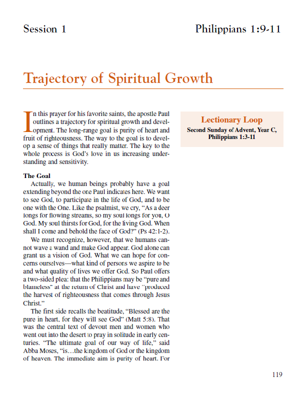 "Lesson 1 ""Trajectory of Spiritual Growth"""
