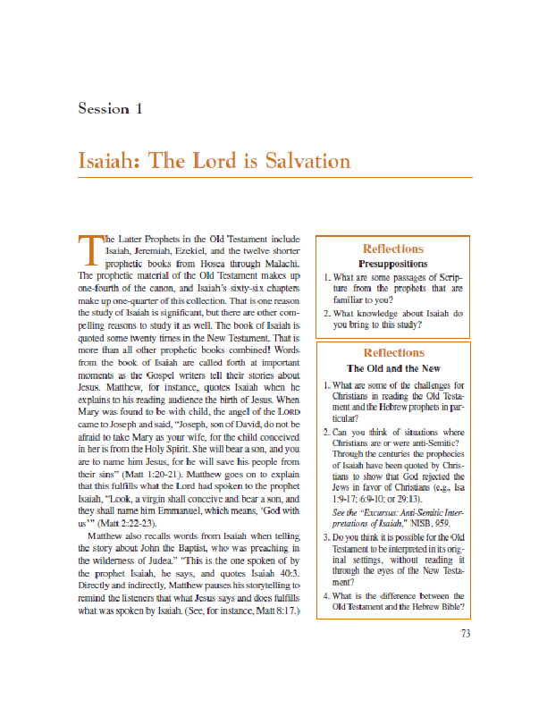Session 1 Isaiah – The Lord is Salvation