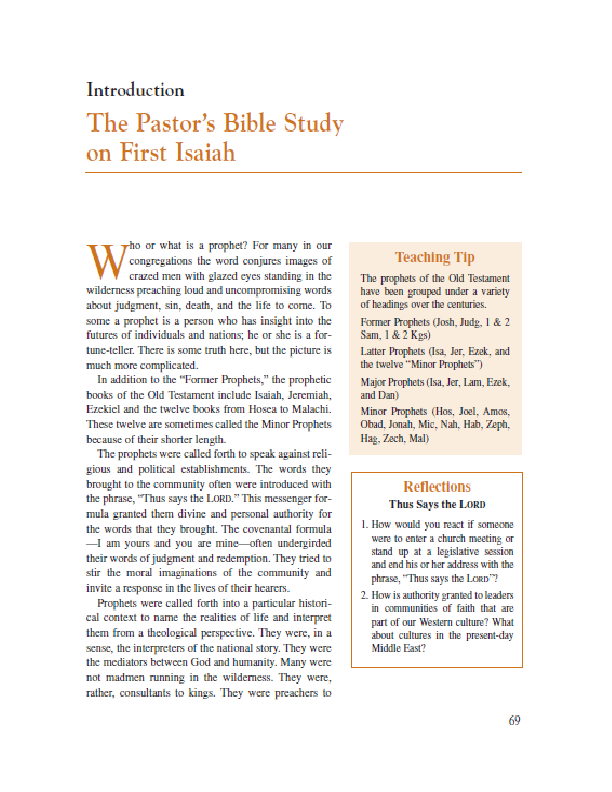 The Pastor_s Bible Study on First Isaiah09162020