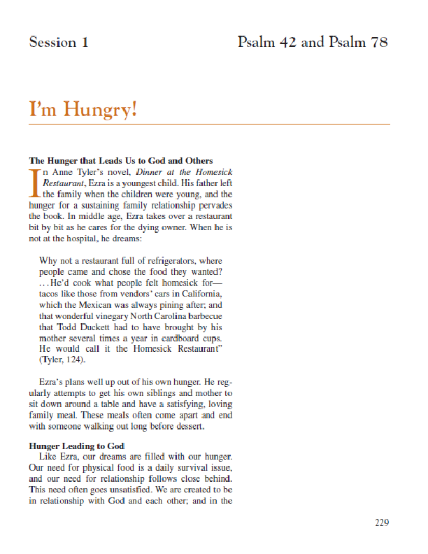 Session 1 – I'm Hungry!