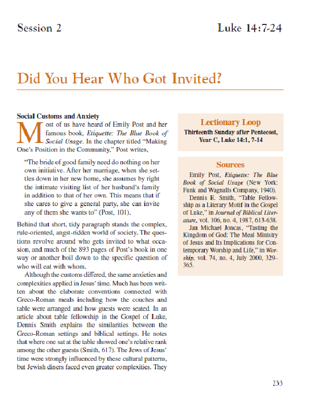 Session 2 – Did You Hear Who Got Invited