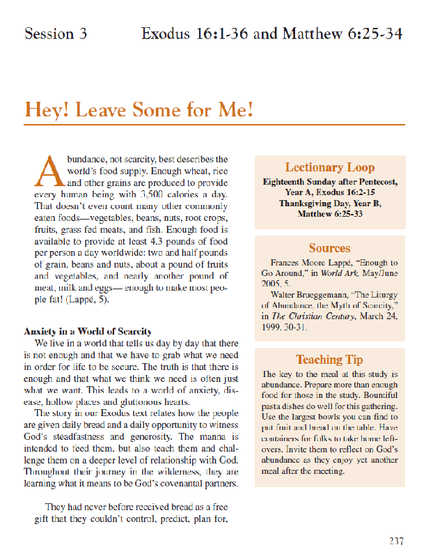 Session 3 – Hey Leave Some For Me
