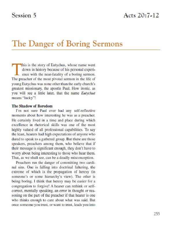Session 5 – The Danger of Boring Sermons