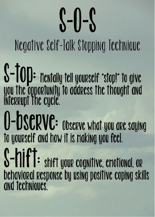 negative self talk graphic to help with mental priming