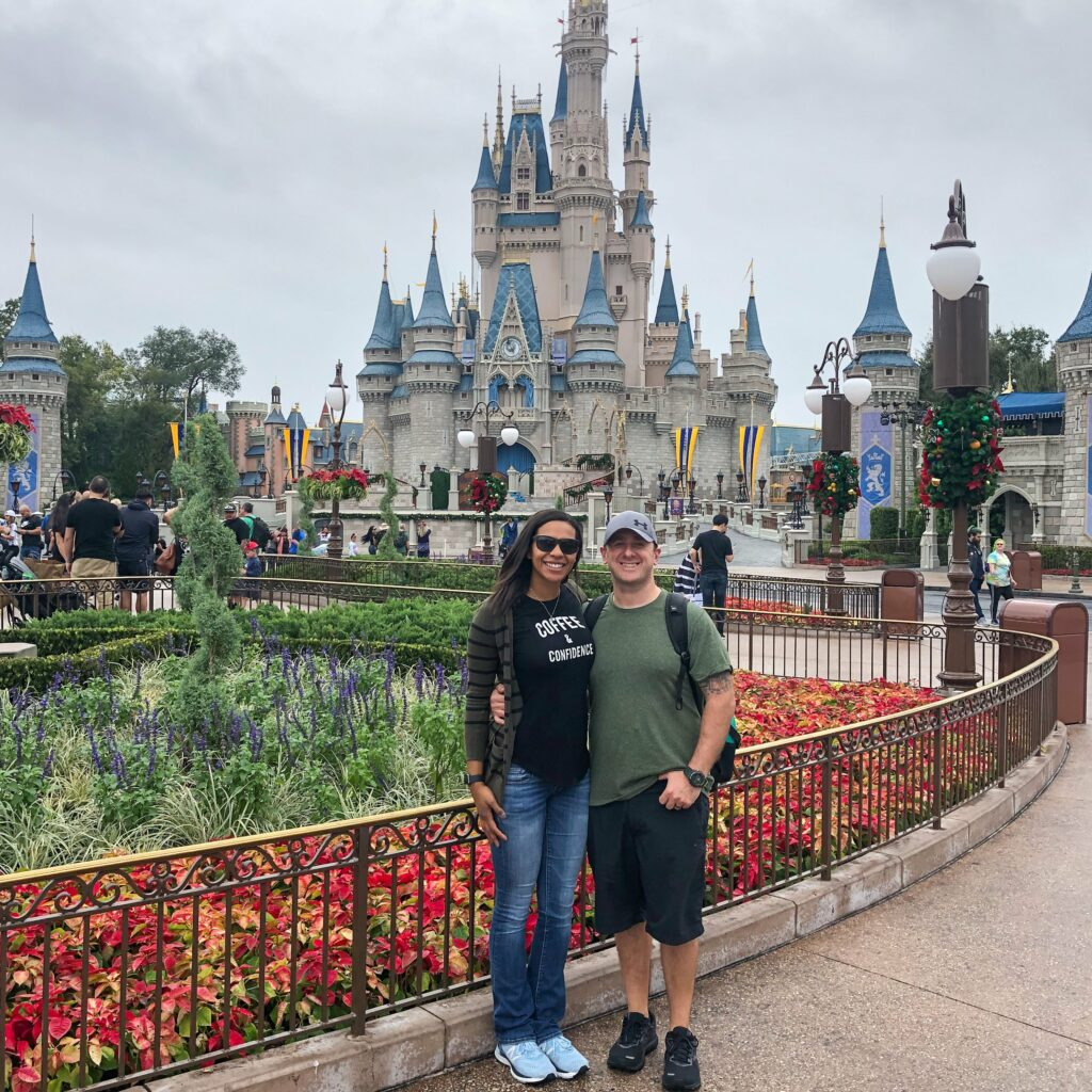 a couple at walt disney world