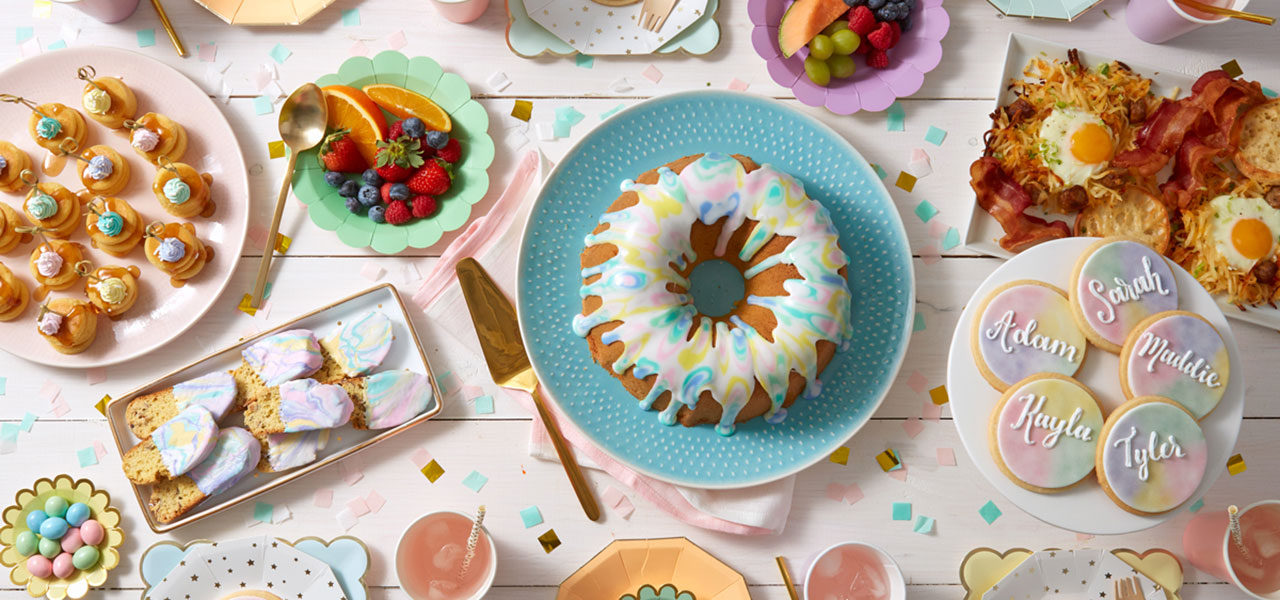 Mother's Day Brunch Idea: Watercolor Sweets