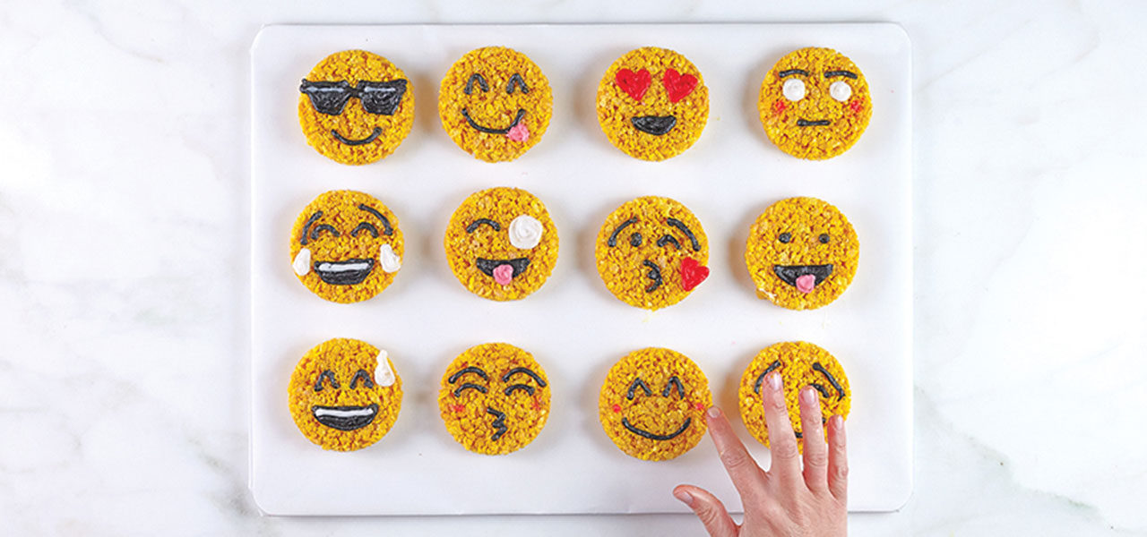 Smiley Emoji Rice Crispy Treats