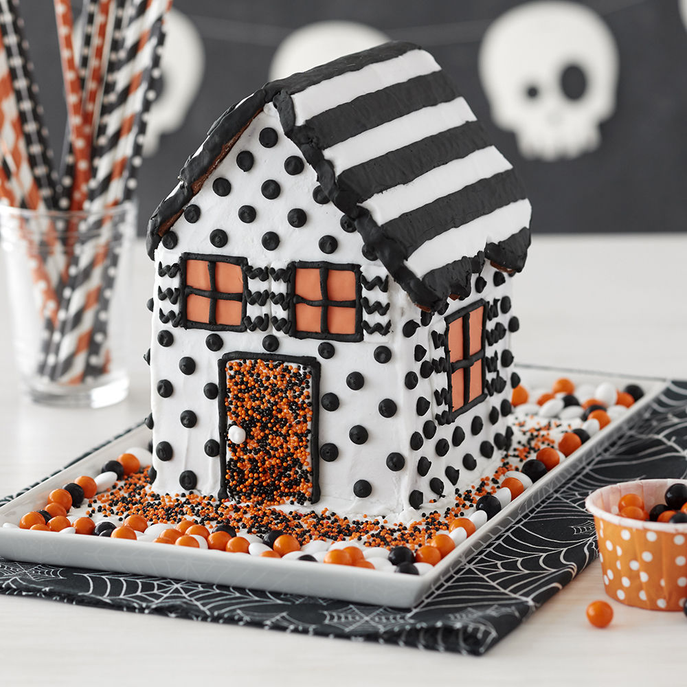 Contemporary Halloween Gingerbread House