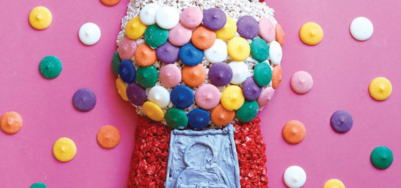 How to Make a Gumball Machine Crispy Rice Treat