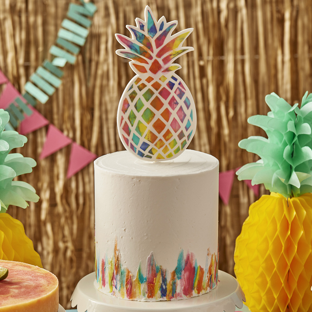 Swell Vibrant Pineapple Cake Wilton Personalised Birthday Cards Epsylily Jamesorg