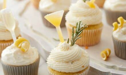 Orange & Rosemary Gimlet Cupcakes