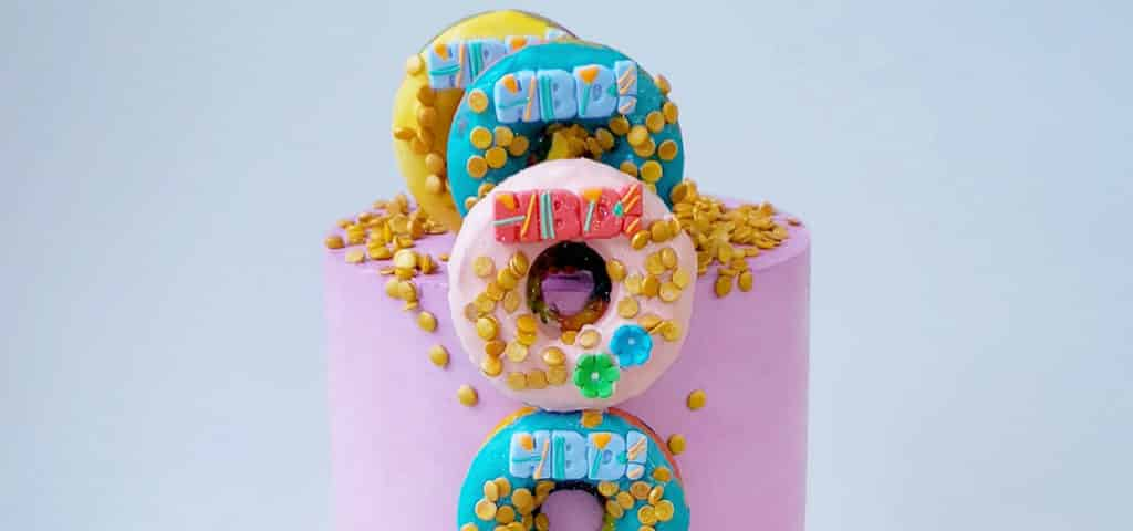 How to Make a Donut Cake