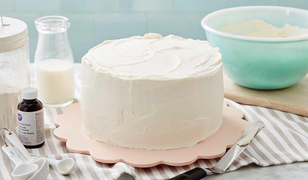 cake frosted with american buttercream