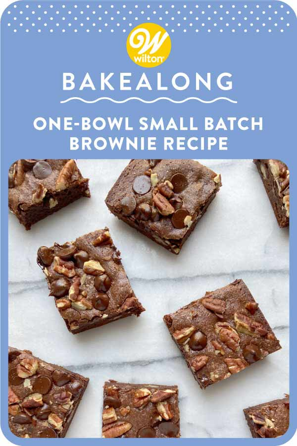 one bowl small batch brownie recipe