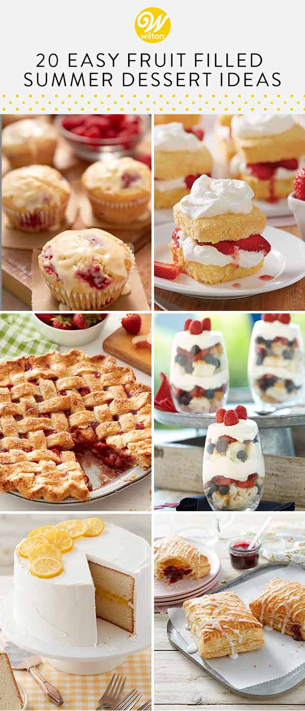 20 fruit filled summer desserts pin