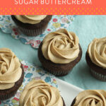 how to make brown sugar buttercream pinterest pin