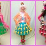 Three-tiered skirts
