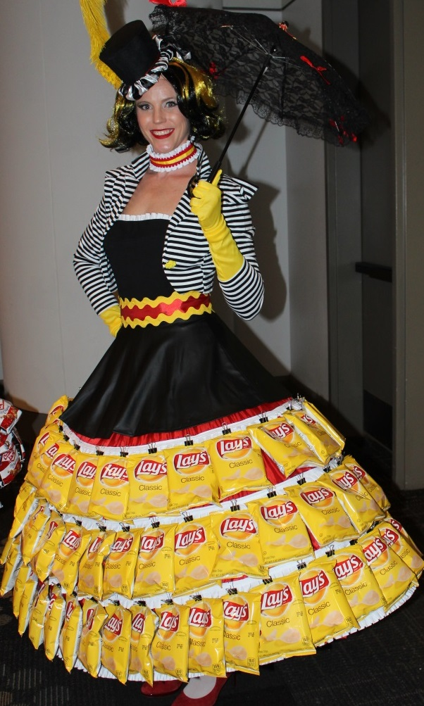 St. Louis Entertainment, Strolling Entertainment, Potato Chip Skirt, Food Skirt