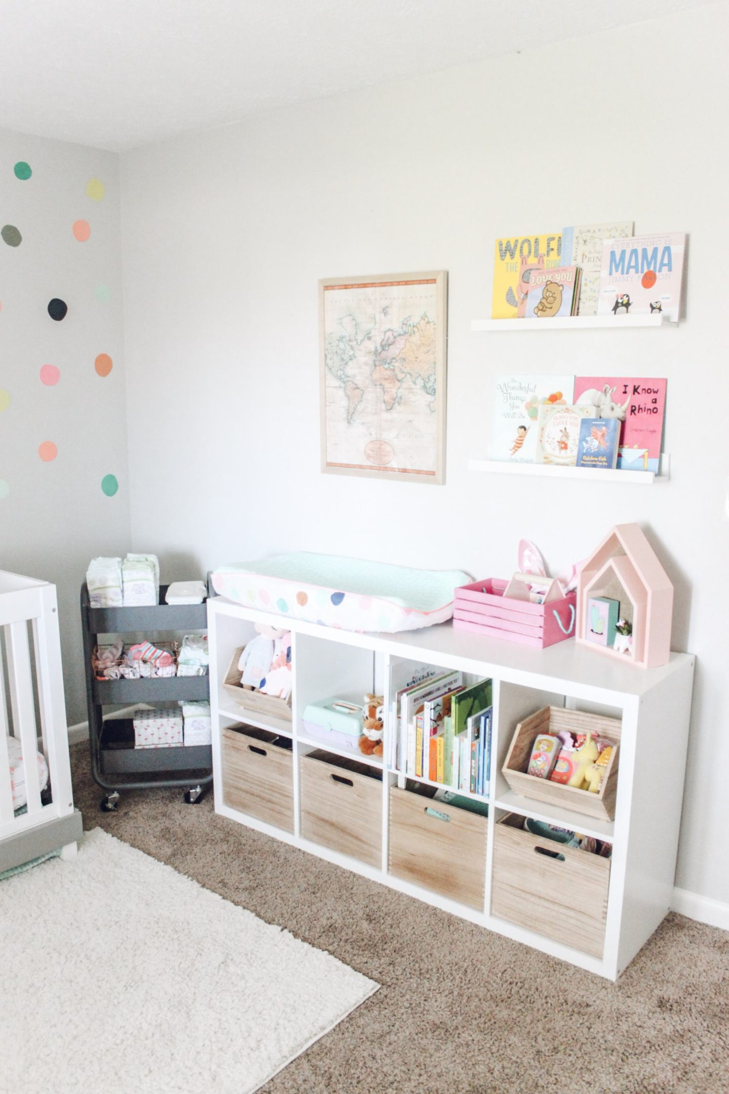 Bright Baby Girl Nursery