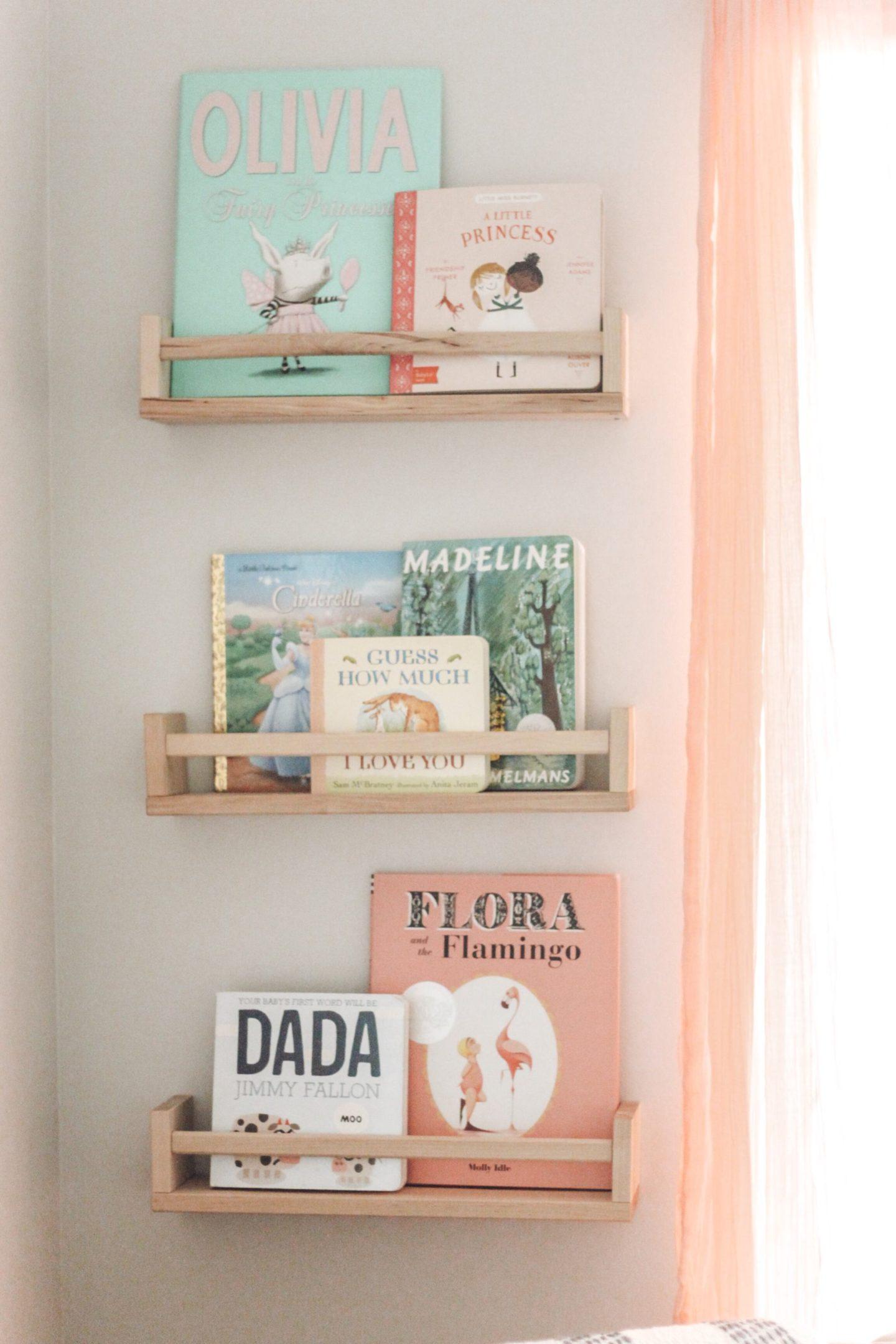 Baby Girl Nursery Bookshelf
