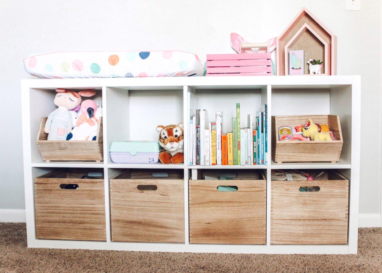 Bright Girls Nursery Shelf