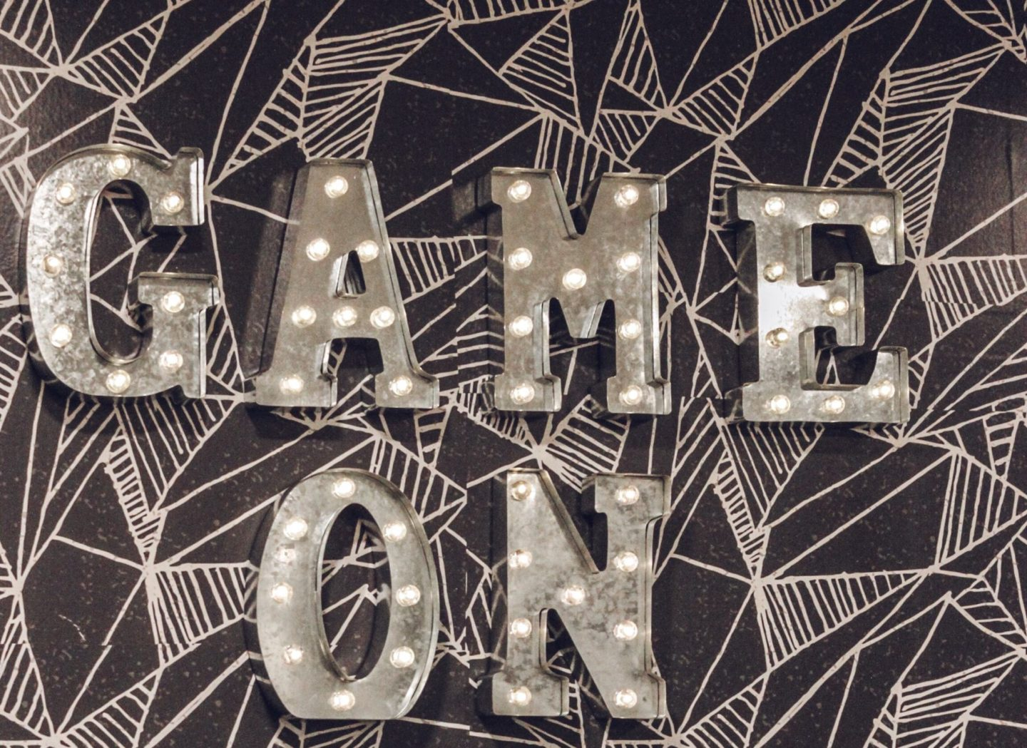 Marque Lights, Game Room Makeover with Wallpaper