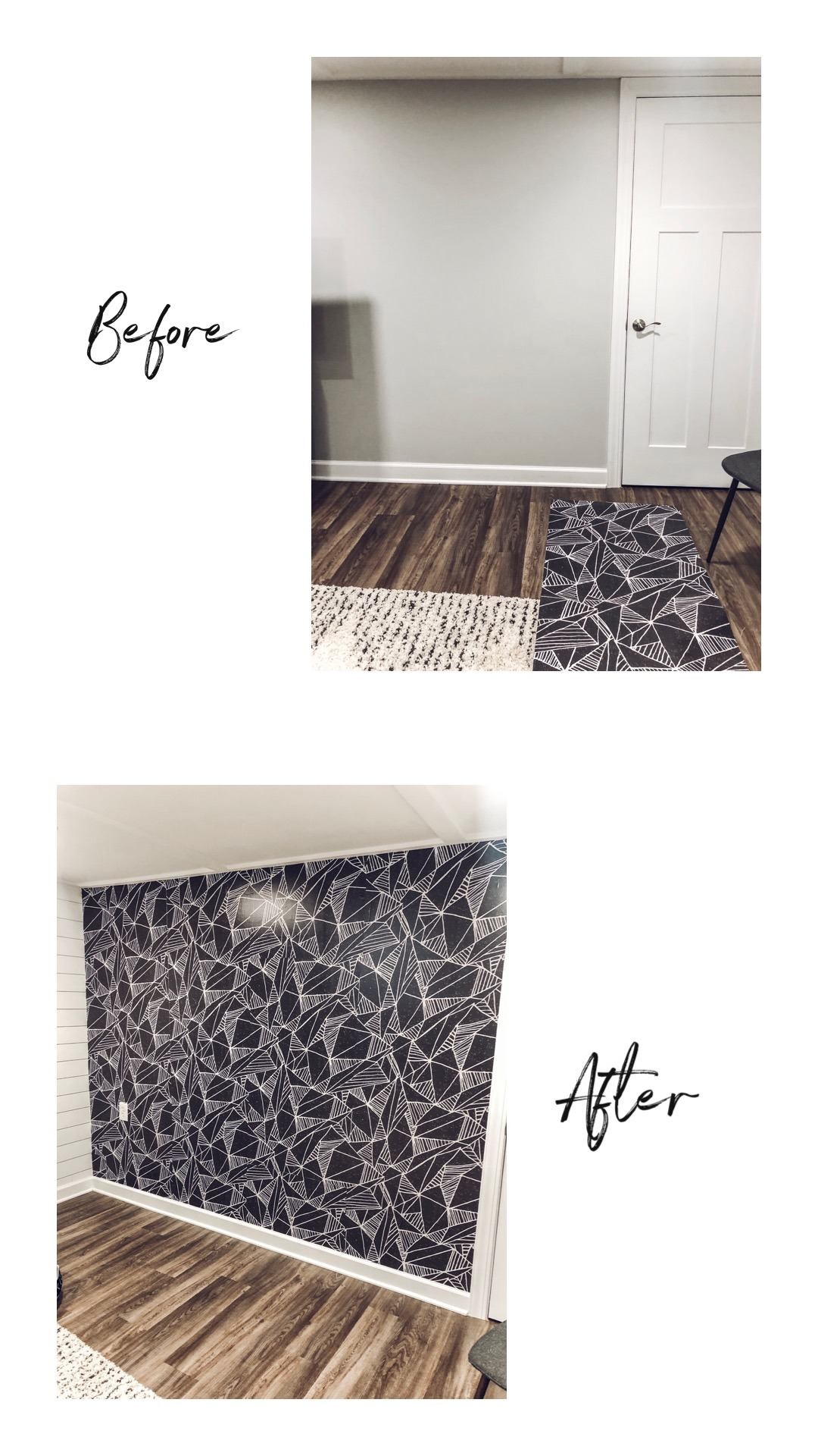 Game Room Makeover with Wallpaper