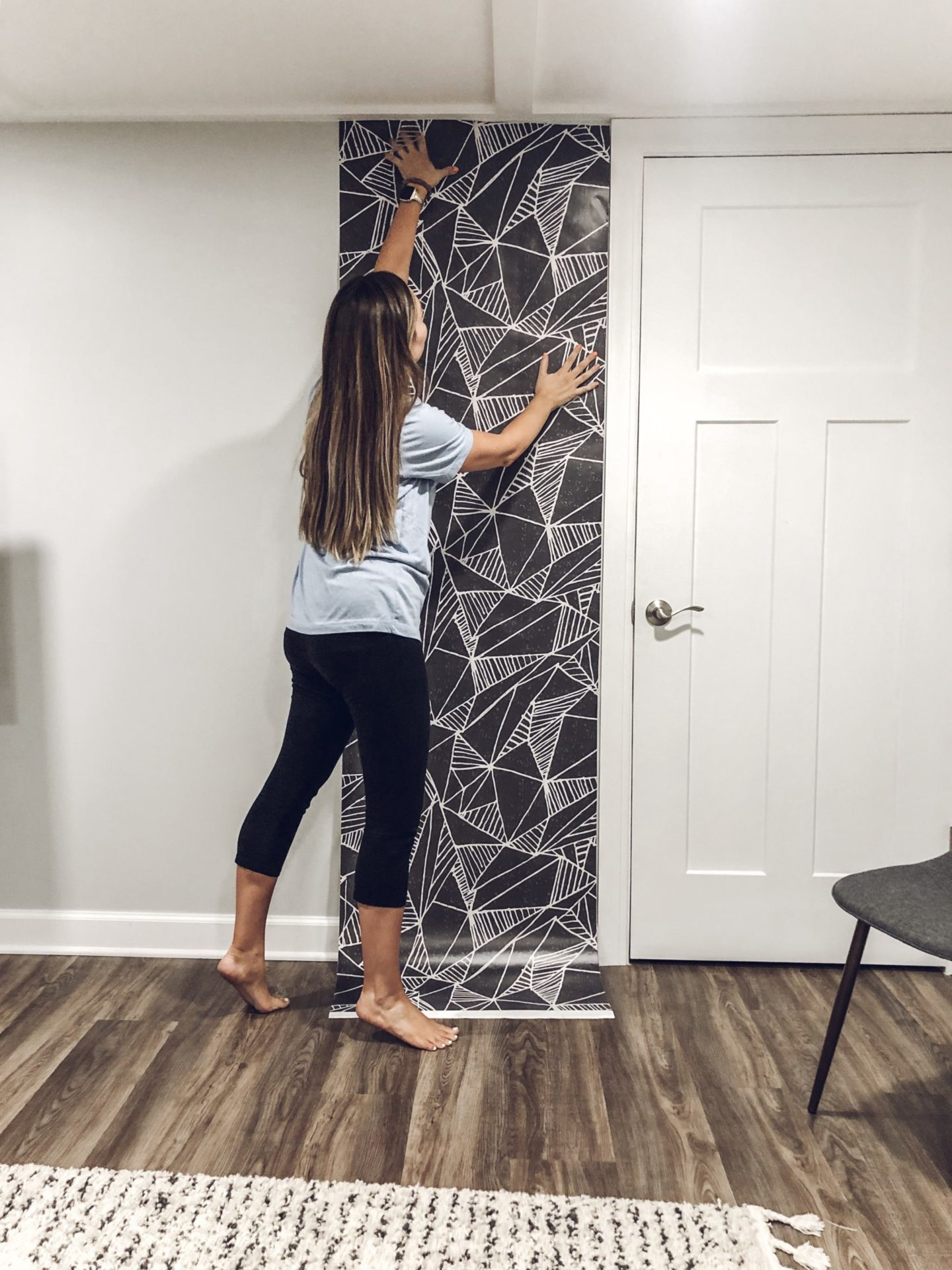 installing wallpaper, Game Room Makeover with Wallpaper