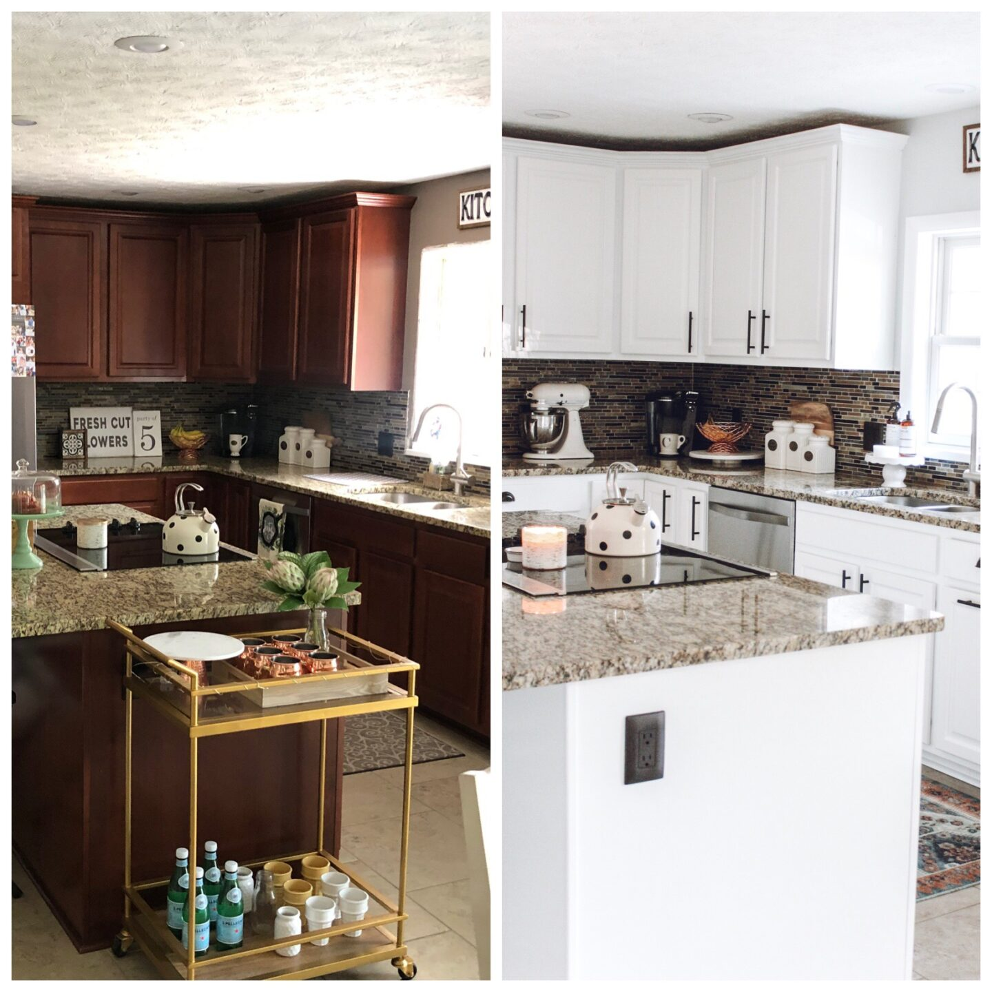 White Kitchen Cabinet Makeover Inspired Reality