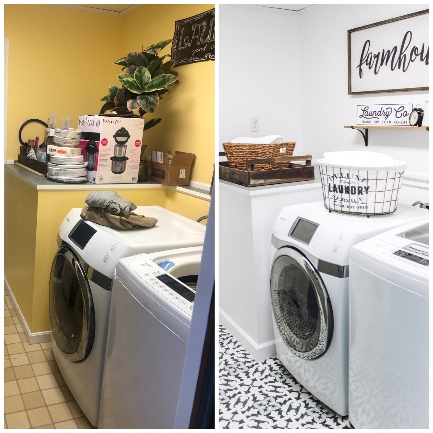 laundry room before and after diy laundry room makeover