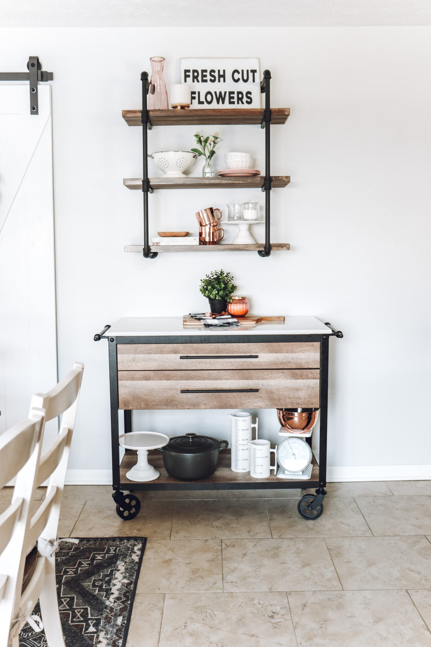 industrial farmhouse kitchen Spring Kitchen Decor