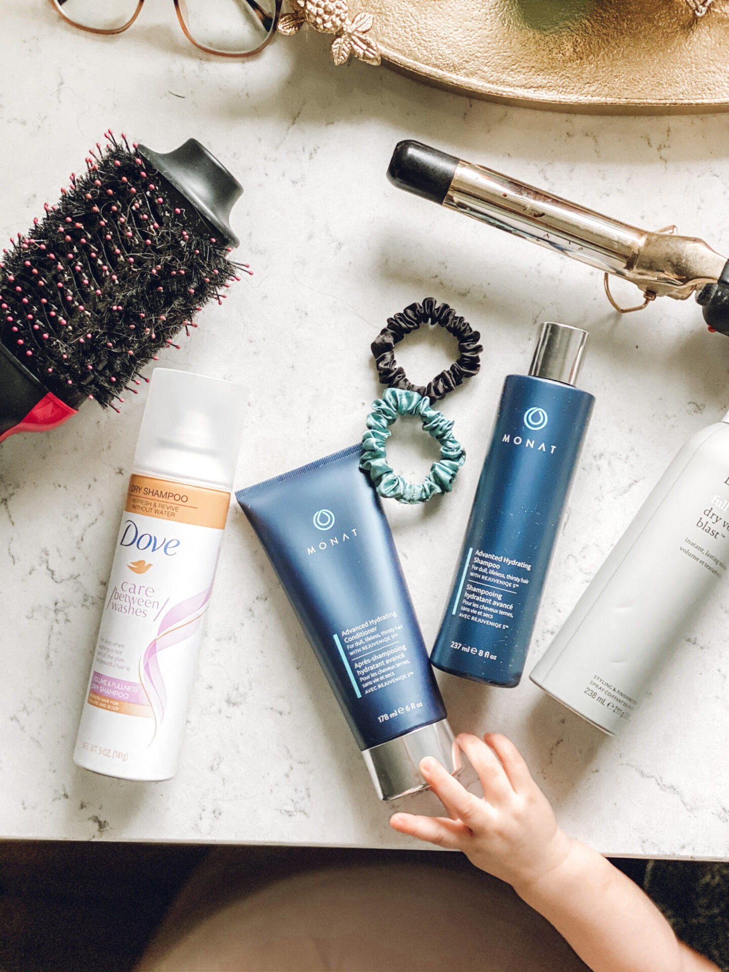 Hair routine with monat hair products