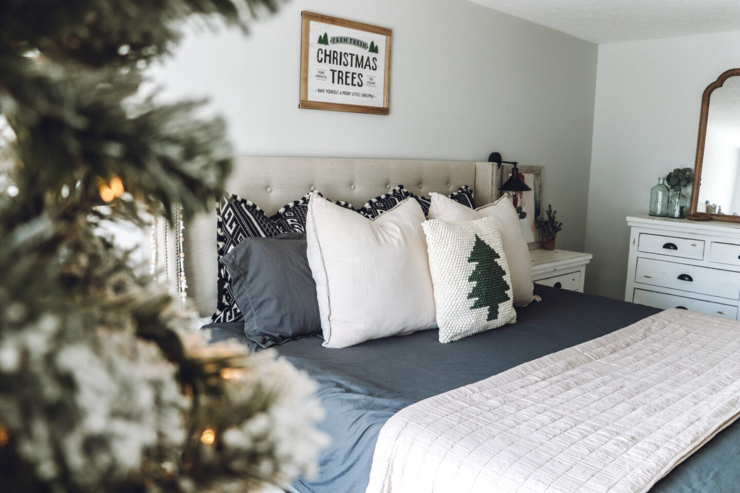 Christmas master bedroom