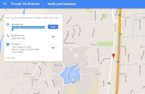 email verification for google my business