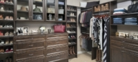 Custom walk-in master bedroom closet