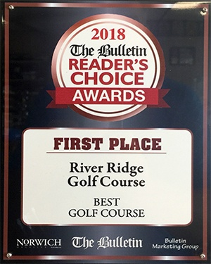 River Ridge Golf Course wins First Place in Norwich Bulletin Reader's Choice Awards