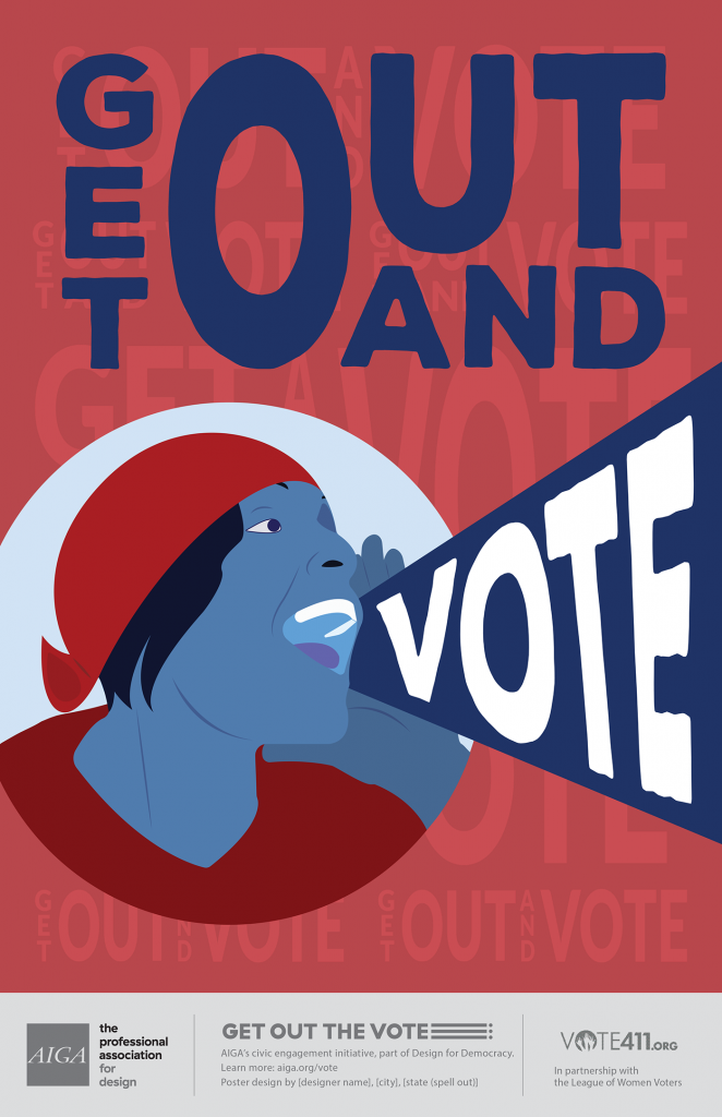Alana Marie Moon Get Out and Vote Poster