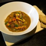West African Sweet Potato & Smoked Turkey Soup