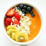 Papaya (Pawpaw) and Fonio Breakfast Smoothie Bowl