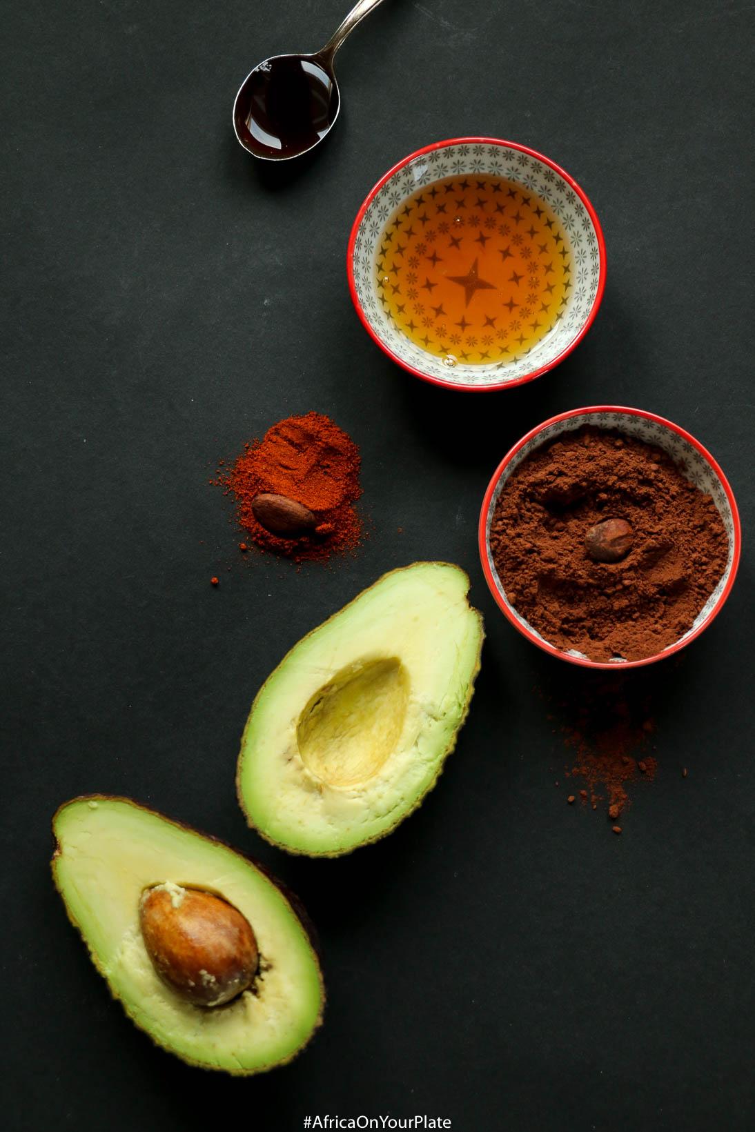 berbere-spiced chocolate avocado pudding