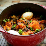 One Pot Berbere Plantain & Spinach Stew