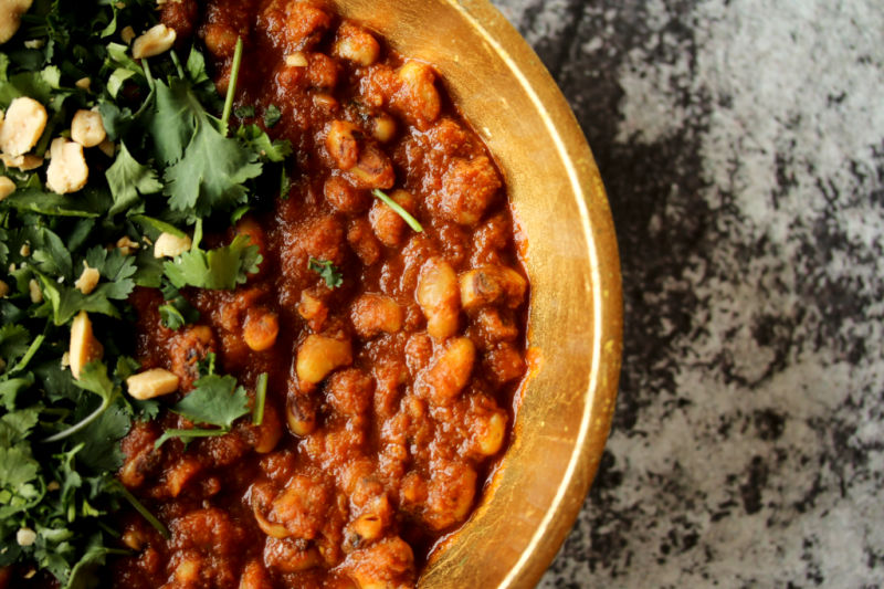 Curried African Bean Stew (African Red Red)
