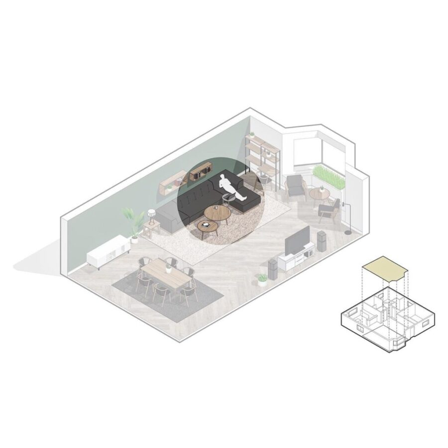 Couch As Work-space with Side Table