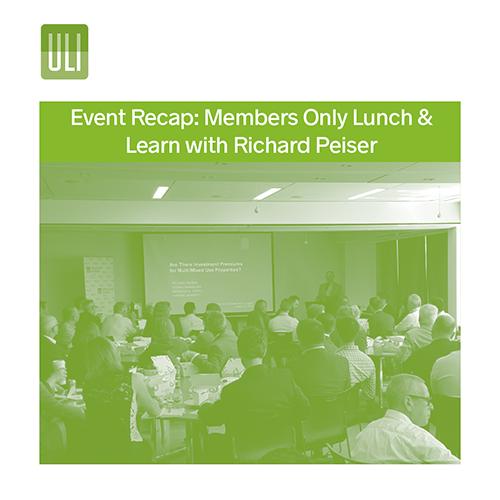 ULI_Richard Peiser Lunch