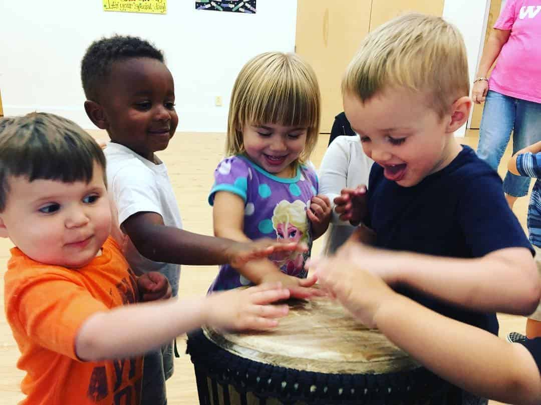 Kids Playing Drum